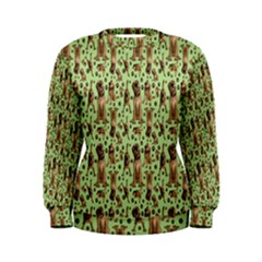 Puppy Dog Pattern Women s Sweatshirt