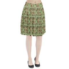 Puppy Dog Pattern Pleated Skirt