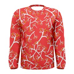 Small Flowers Pattern Floral Seamless Pattern Vector Men s Long Sleeve Tee