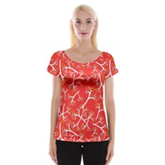 Small Flowers Pattern Floral Seamless Pattern Vector Cap Sleeve Tops