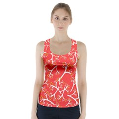 Small Flowers Pattern Floral Seamless Pattern Vector Racer Back Sports Top