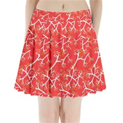 Small Flowers Pattern Floral Seamless Pattern Vector Pleated Mini Skirt