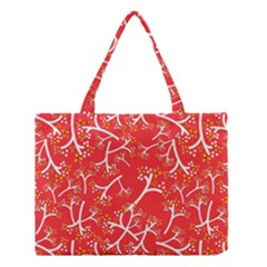 Small Flowers Pattern Floral Seamless Pattern Vector Medium Tote Bag