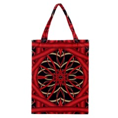 Fractal Wallpaper With Red Tangled Wires Classic Tote Bag