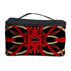 Fractal Wallpaper With Red Tangled Wires Cosmetic Storage Case