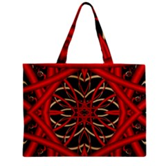 Fractal Wallpaper With Red Tangled Wires Zipper Mini Tote Bag