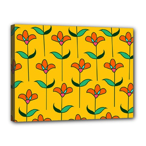 Small Flowers Pattern Floral Seamless Pattern Vector Canvas 16  X 12