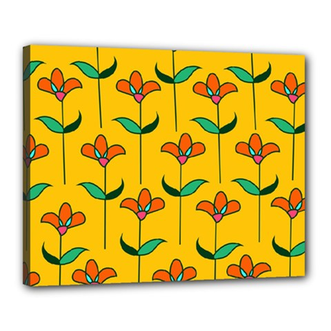 Small Flowers Pattern Floral Seamless Pattern Vector Canvas 20  x 16