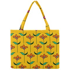 Small Flowers Pattern Floral Seamless Pattern Vector Mini Tote Bag