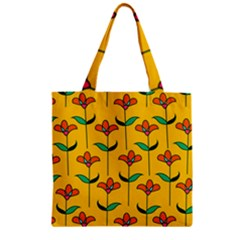 Small Flowers Pattern Floral Seamless Pattern Vector Zipper Grocery Tote Bag