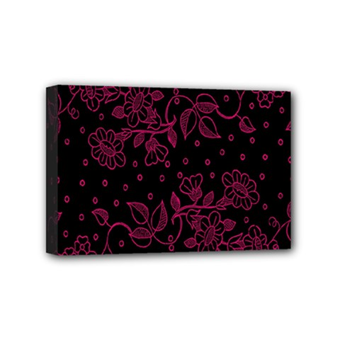 Pink Floral Pattern Background Wallpaper Mini Canvas 6  X 4