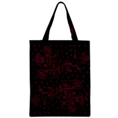 Pink Floral Pattern Background Wallpaper Zipper Classic Tote Bag