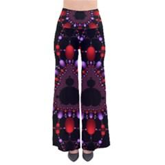 Fractal Red Violet Symmetric Spheres On Black Pants