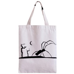 Dark Scene Silhouette Style Graphic Illustration Classic Tote Bag