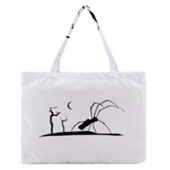 Dark Scene Silhouette Style Graphic Illustration Medium Zipper Tote Bag