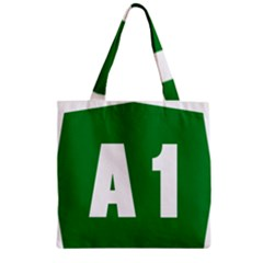 Autostrada A1 Zipper Grocery Tote Bag