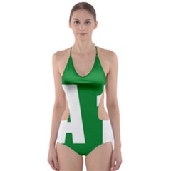 Autostrada A1 Cut Out One Piece Swimsuit