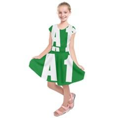 Autostrada A1 Kids  Short Sleeve Dress