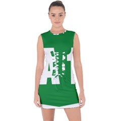 Autostrada A1 Lace Up Front Bodycon Dress