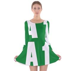 Autostrada A1 Long Sleeve Velvet Skater Dress