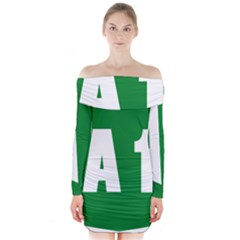Autostrada A1 Long Sleeve Off Shoulder Dress