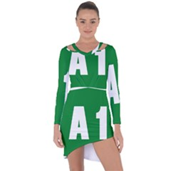 Autostrada A1 Asymmetric Cut-Out Shift Dress
