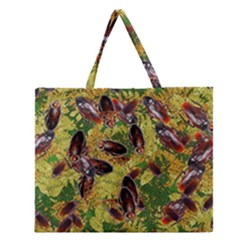 Cockroaches Zipper Large Tote Bag