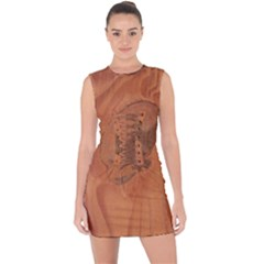 The Aged Eye Lace Up Front Bodycon Dress