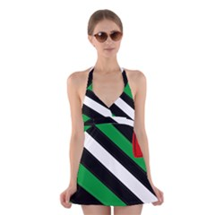 Boi Halter Swimsuit Dress
