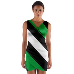 Boi Wrap Front Bodycon Dress