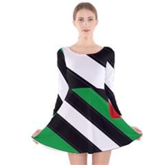 Boi Long Sleeve Velvet Skater Dress