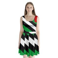 Boi Split Back Mini Dress