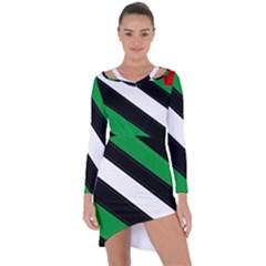 Boi Asymmetric Cut-Out Shift Dress