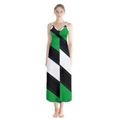 Boi Button Up Chiffon Maxi Dress