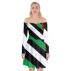 Boi Off Shoulder Skater Dress