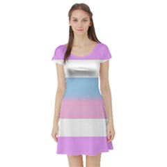 Bigender Short Sleeve Skater Dress