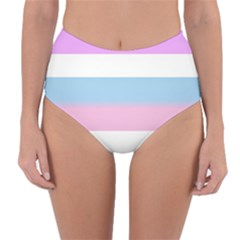 Bigender Reversible High-Waist Bikini Bottoms