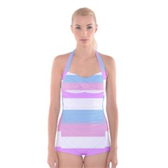 Bigender Boyleg Halter Swimsuit