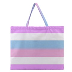 Bigender Zipper Large Tote Bag
