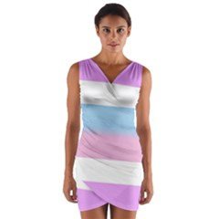 Bigender Wrap Front Bodycon Dress