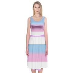 Bigender Midi Sleeveless Dress