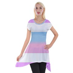 Bigender Short Sleeve Side Drop Tunic