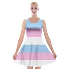 Bigender Velvet Skater Dress