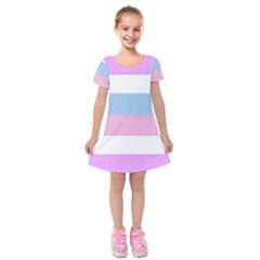 Bigender Kids  Short Sleeve Velvet Dress