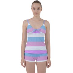 Bigender Tie Front Two Piece Tankini