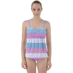 Bigender Twist Front Tankini Set