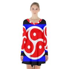 Bdsm Rights Long Sleeve Velvet V-neck Dress