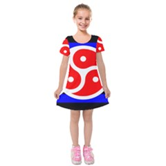 Bdsm Rights Kids  Short Sleeve Velvet Dress
