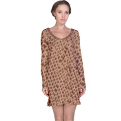Giraffe Pattern Animal Print Long Sleeve Nightdress
