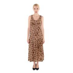 Giraffe Pattern Animal Print  Sleeveless Maxi Dress